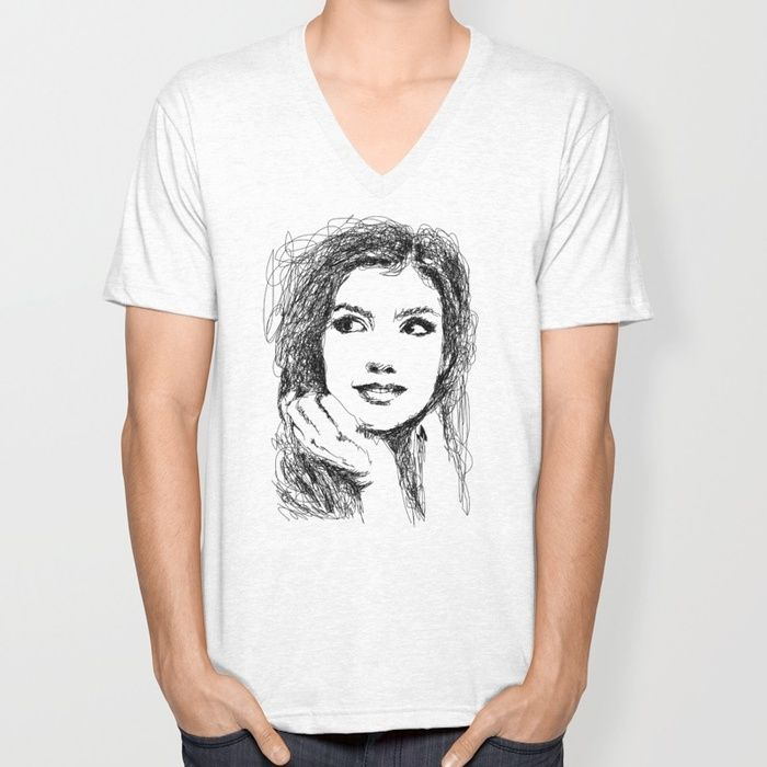 BEAUTIFUL WOMAN Unisex V-Neck by dhiazkaosy | Society6