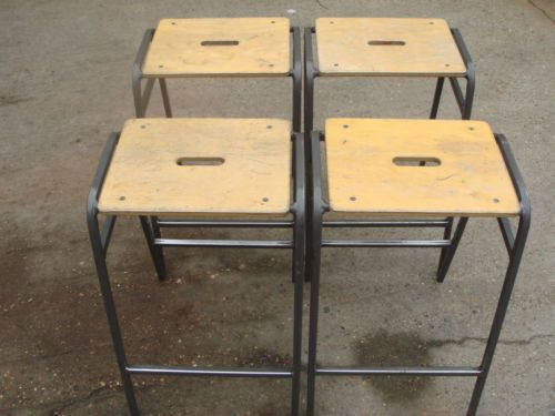 4 Old School Stacking Stools Lab and Science Stools Bar Cafe Home Kitchen & 27 best Kitchen stools images on Pinterest | Kitchen stools ... islam-shia.org