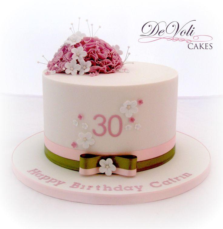 Small simple and elegant birthday cake