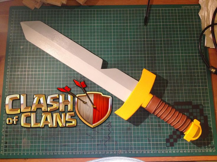 Create your own Clash of Clans barbarian sword. #clashofclans #sword #barbarian