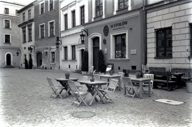 https://flic.kr/p/UG2M8y | One More Good Year | Rynek Square, Old Town Lublin, Poland, 17 Apr 2017  Olympus XA, Ilford PAN 100, digitized with SONY A7R.  Instagram: @alec.chernivtsi urban.photos