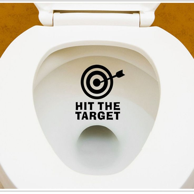 Hit The Target 12x11cm Toilet Sticker   Free Worldwide Shipping!  Only $2.83    Order from: www.happycozyhome.com