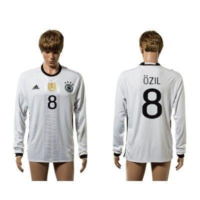 Tyskland 2016 Ozil 8 Hjemmebanetrøje Langærmet.  http://www.fodboldsports.com/tyskland-2016-ozil-8-hjemmebanetroje-langermet.  #fodboldtrøjer