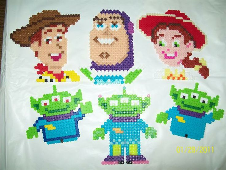 Knitting Pattern Toy Story Characters : Toy Story characters hama beads - Hama Perlur perler bead patterns Pinter...
