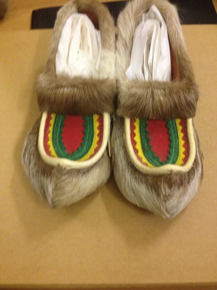 Reindeer slippers from lap land northampton shoe museum archive