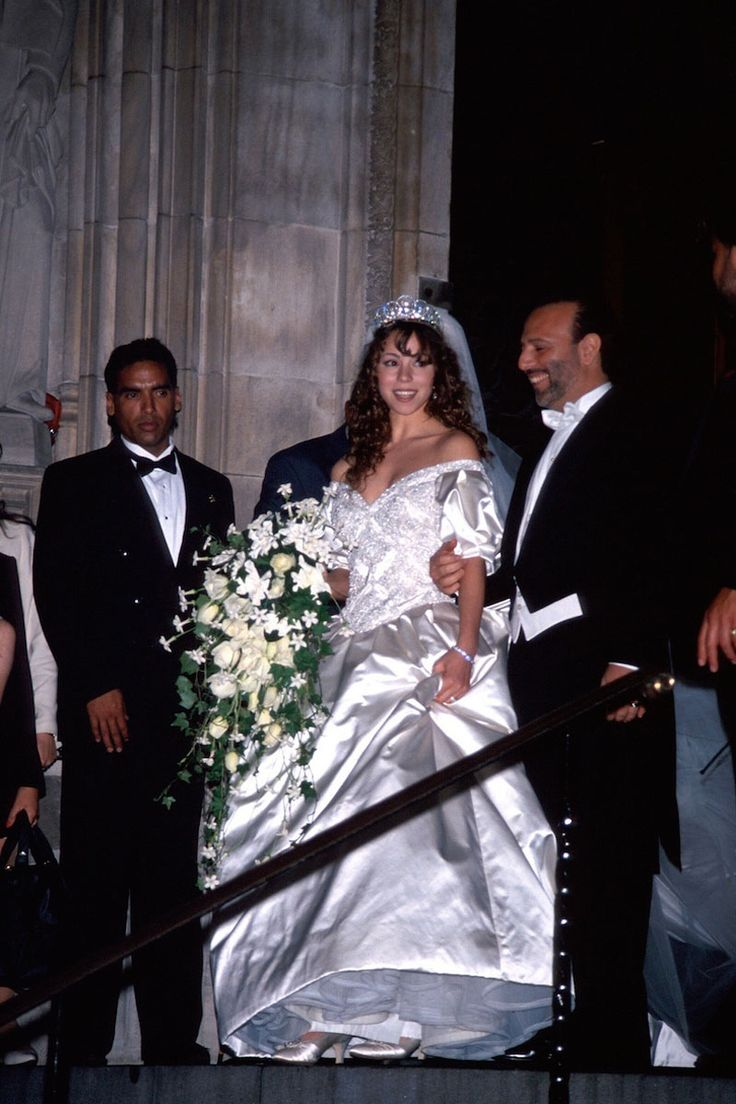 Mariah Carey and Tommy Mottola, 1993 #celebwedding
