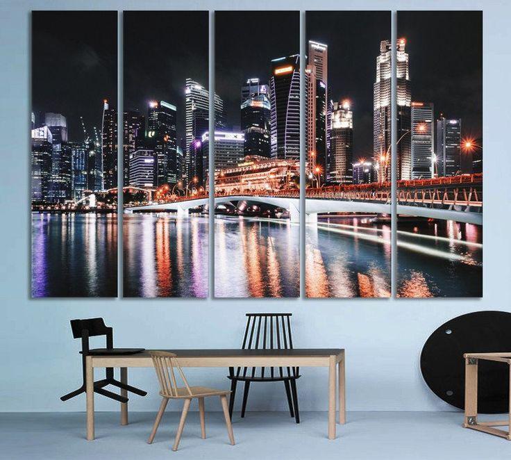 107 best skylines cityscapes images on pinterest canvas art canvas p - Decoration bureau new york ...