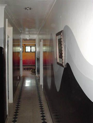 hall view to office