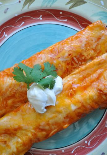 Shredded Chicken Enchiladas with corn tortillas