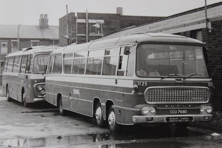 In 1967 Barton Transport acquired the substantial business of Hall Bros. of South Shields. Their modern coach fleet operated express services between the North East and the Midlands. Initially they were run as a separate entity and were given fleet numbers proceeded by the letter H. Finally however they were incorporated into the main fleet. This photograph depicts H21 which became Barton no.1125