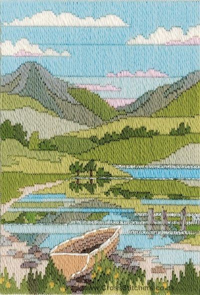 Mountain Spring Long Stitch (needlepoint) Kit from Derwentwater Designs