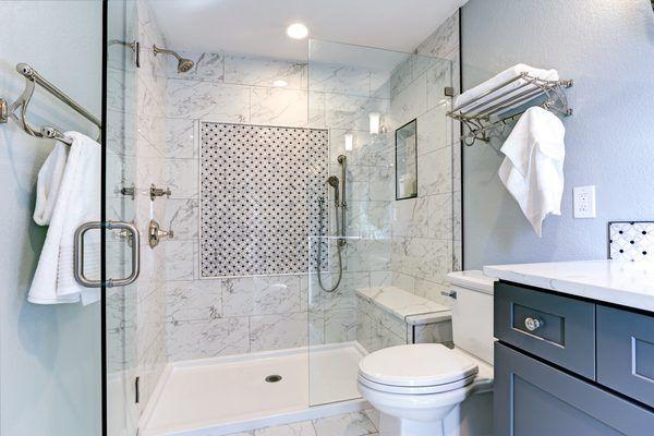 How To Replace The Plastic Strip On A Shower Door Marble Bathroom Shower Doors Simple Bathroom