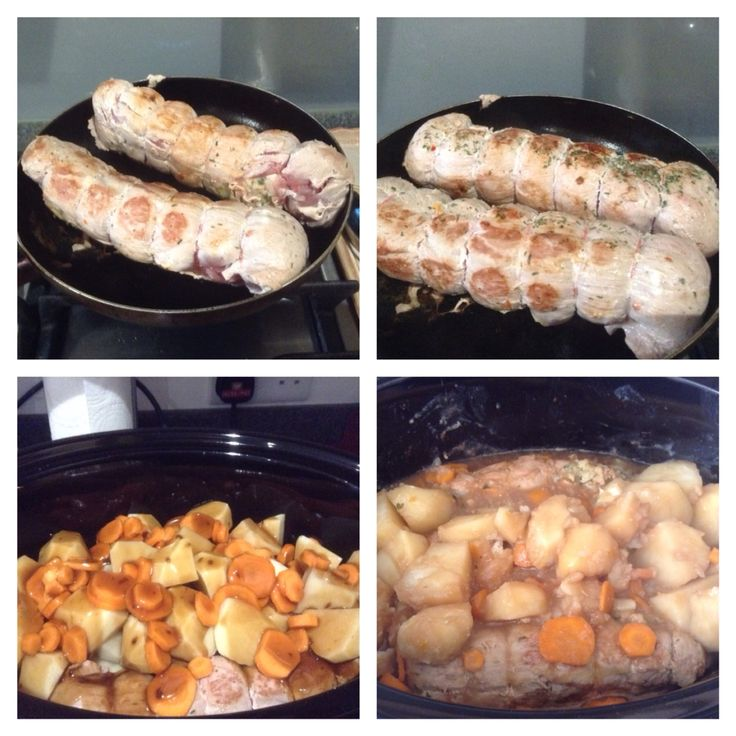 Stuffed Pork Fillet pan fried then cooked in a slow cooker - a dish that for us symbolises family togetherness. August 2015