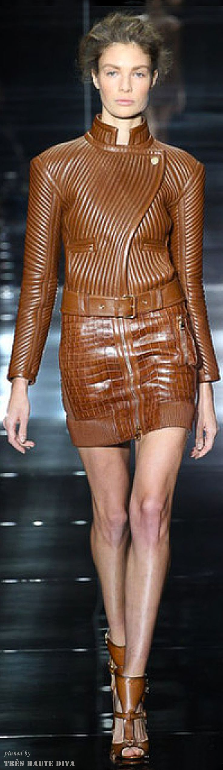 Leather Trends: London FW | Tom Ford Leather Dress Spring 2014 RTW