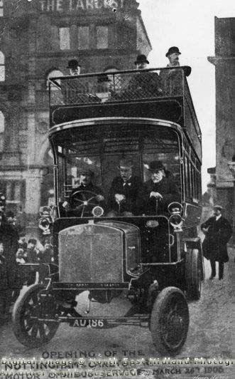 Motor Omnibus, Carlton Road, Nottingham, 1906
