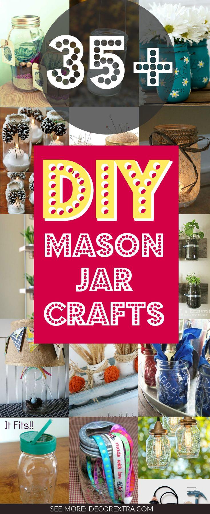 35+ Amazing DIY Mason Jar Projects You Must See via @decorextra