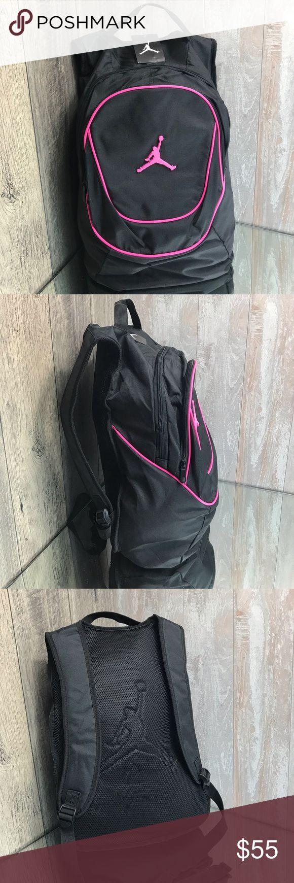 Nike Air Jordan Jumpmen Time Backpack Black Pink B…