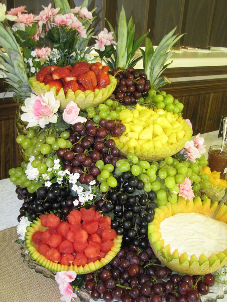 Fruit Centerpiece For Shower Fruit Cascade Pinterest