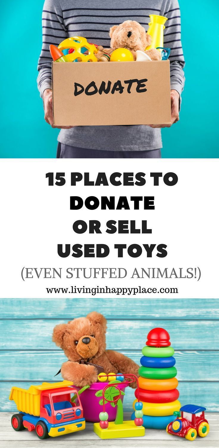 Wondering where to donate toys? List of 15 Places to donate used toys or sell used toys. Clean out kids' toys for Christmas or just organize your playroom. Donate used toys, unwanted toys, or even donate stuffed animals with this list of places to donate toys. #toys #toydonations #christmascleanout #toycleanout