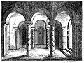 19th century engraving of the crypt at Repton. Anglo-Saxon architecture - Wikipedia, the free encyclopedia