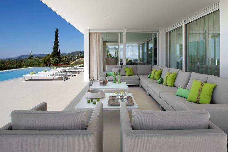 molins interiors // salón exterior - exteriores - mobiliario exterior - piscina