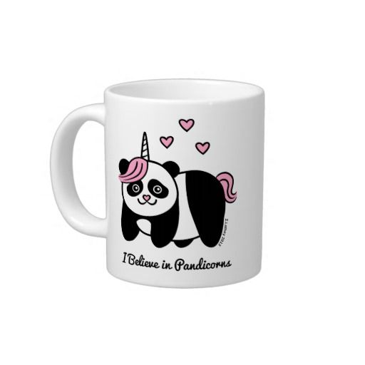 je crois au pandicorns licorne de panda mug pandas unicorns and mugs. Black Bedroom Furniture Sets. Home Design Ideas