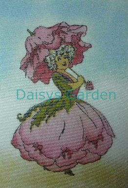 Peony - Flower children. Daisys Garden Embroidery is an Online Store supplying to the hand embroiderer and crafter.