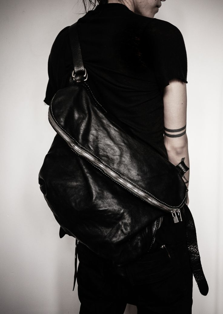 Visions of the Future: Blacklook mens black leather accessories