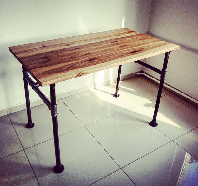 Band Ahşap Çalışma Masası | Ceviz Ağacı  Loft Style Wooden Working Desk | Walnut  http://www.mozilya.com/urunlerimiz/band-calisma-masasi/