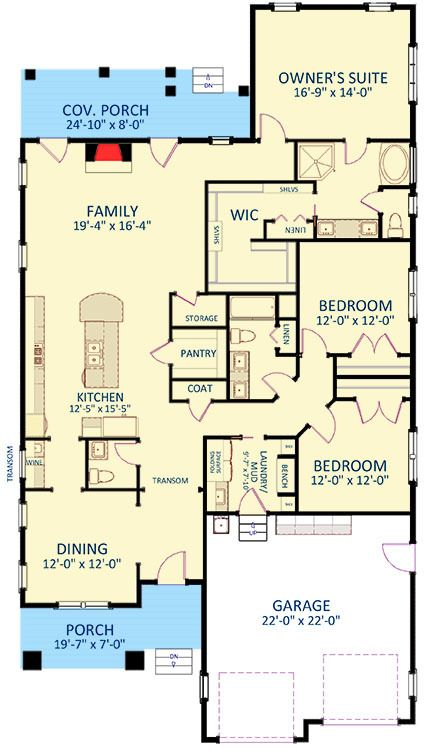 Best 25 one story houses ideas on pinterest one floor for Craftsman house plans first floor master