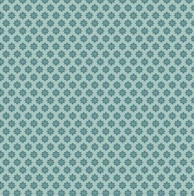 Tilda Fabric Starflower Teal