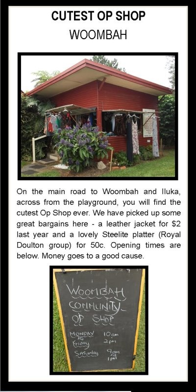 Op Shop Woombah...just around the corner from the river house