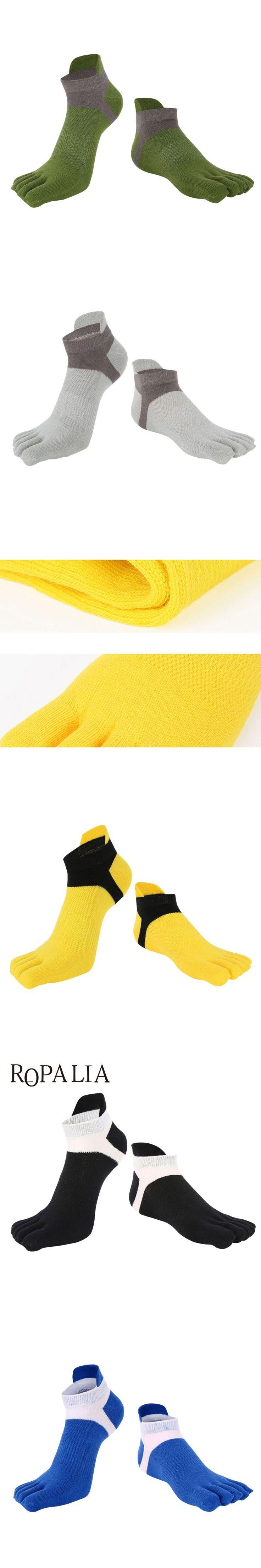 New Men's Cotton Five Finger Toe Socks Deportes Short Tube Mesh Finger Meias Polyester Sock Correr Elasticity Sock