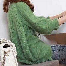 Fall Sweater Women's Cardigan Sweater Female 3/4 Sleeve Spring Summer Thin Sweater Small Shawl Knit Cardigan Sweater One Size(China)