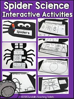Spider Science Booklet  ELA Unit 3  Kindergarten science Science lessons Science classroom