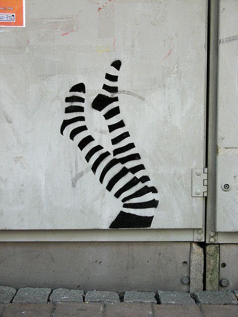 Leg stencil, Tampere #street art #graffiti