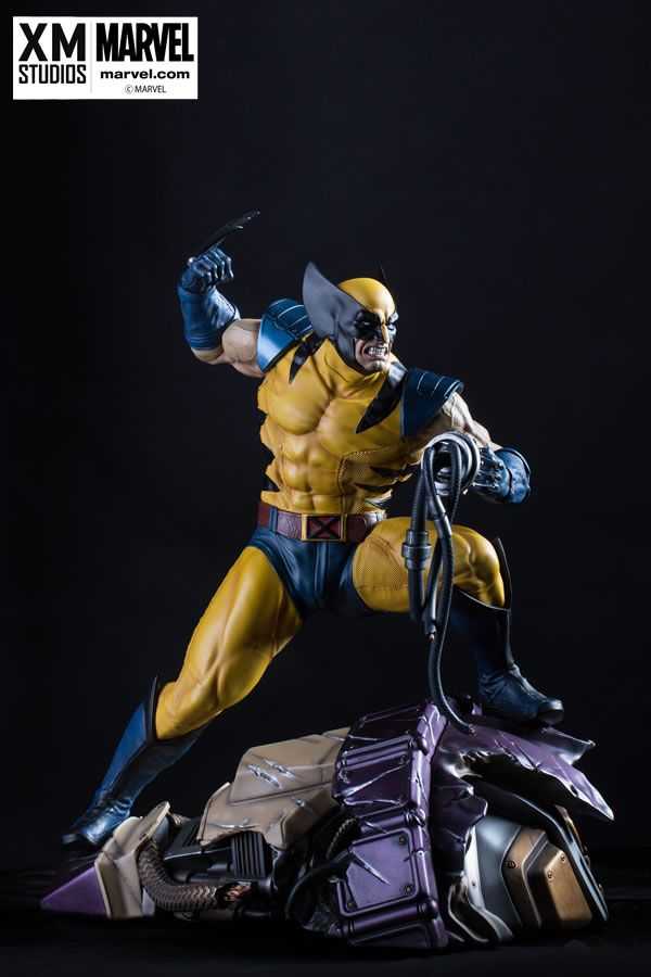 XM Studios is proud to present our next Marvel Premium Collectibles statue series, Wolverine wearing his iconic Yellow Costume standing atop a mutilated Sentinel Head! Behold the ferocious mutant of the X-Men in the form of highly detailed 1:4 scale cold-cast porcelain, each painstakingly handcrafted statue stands at approximately 17.5 inches tall. Every statue is individually hand-painted with the highest possible quality finish. Featuring left hands and 3 head portraits.