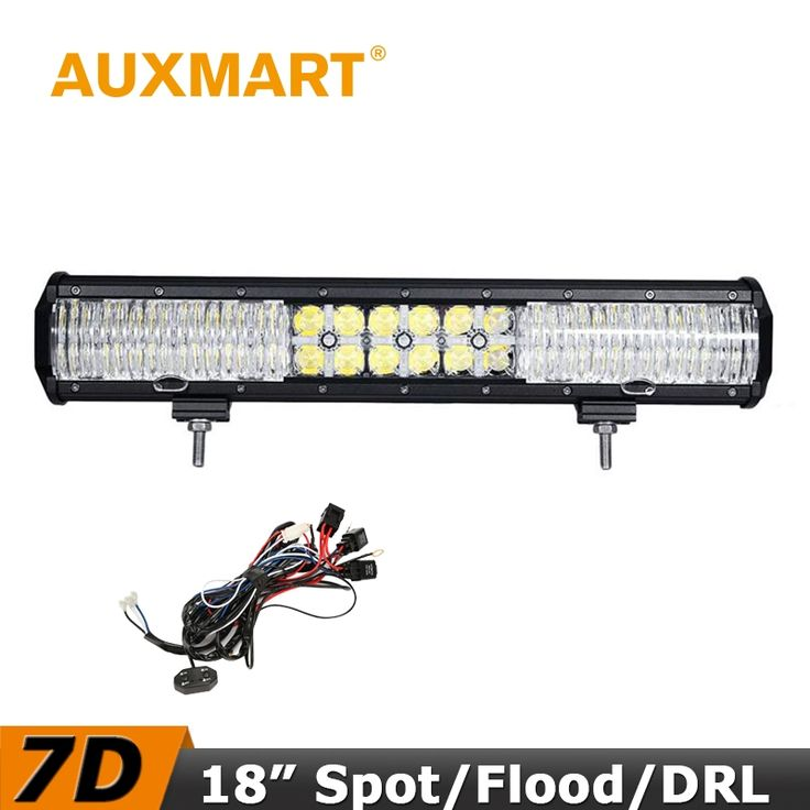 (107.87$)  Know more  - Auxmart 7D LED Light Bar 18 inch 180W CREE Chips Offroad LED Bar Flood/Spot Beam Cross DRL Fit Truck RZR ATV 4x4 Tractor