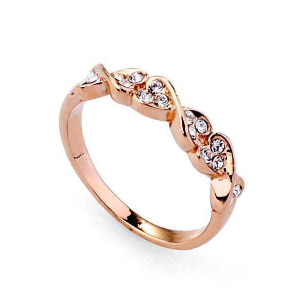 Дешевые ювелирные изделия оптовая продажа ashion уникальный дизайн роуз позолоченные леди кольцо, тонкие кольца для милой девушкой