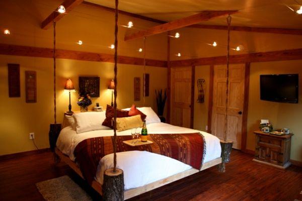 lit escamotable plafond romantique