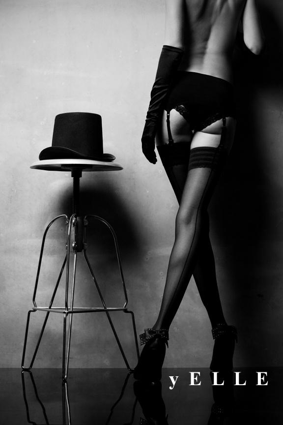 Film noir burlesque. yELLE Styling