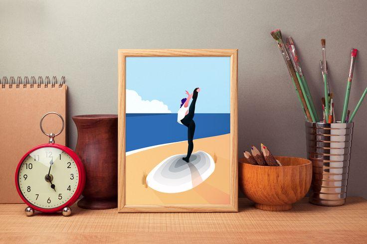 #frame #print #yoga #bow #pose #sea #ocean #landscape #free #dreamy #travel #wander #explore @oozefina