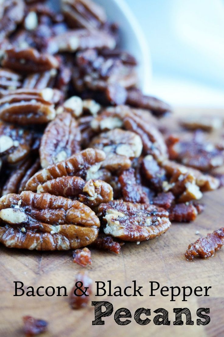 Toasted Pecans with Black Pepper and Bacon