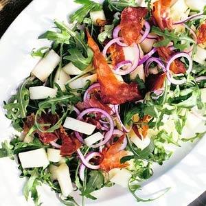 Recept - Salade van meloen, rucola en ham - Allerhande