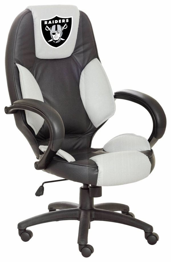 Oakland Raiders Leather Desk/Office Executive Chair Available For $399.97  Only.