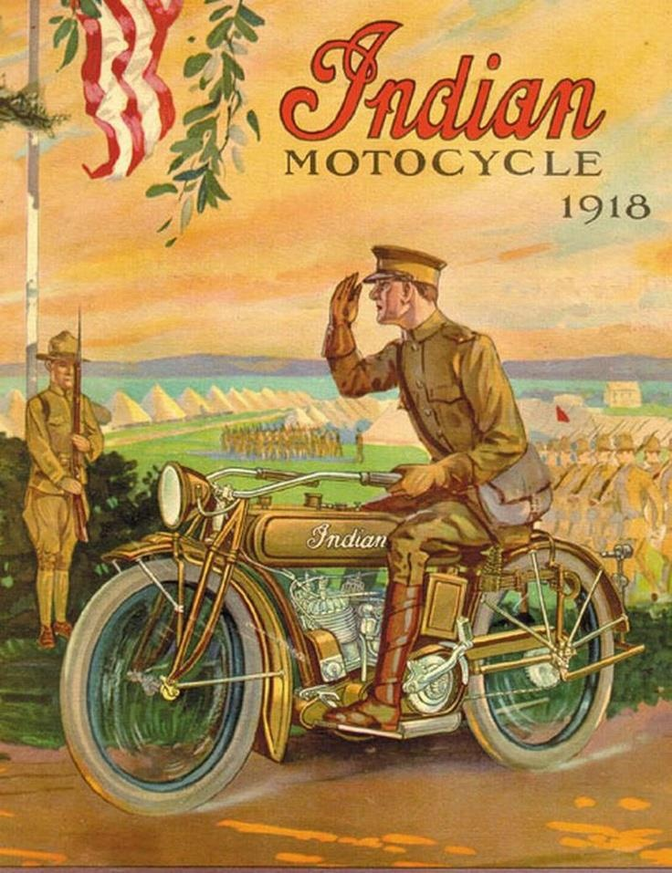Vintage Indian Motorcycle Ad (9) - Vintage Advertising Art