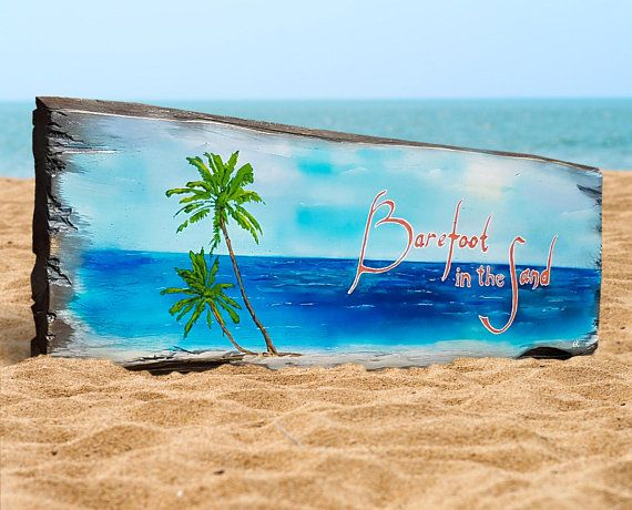 Wooden Beach Painting - Distressed Wooden sign Tiki Bar Tropical Wall Hanging Pool Bar decoration Custom made signs Summer decor patio bar