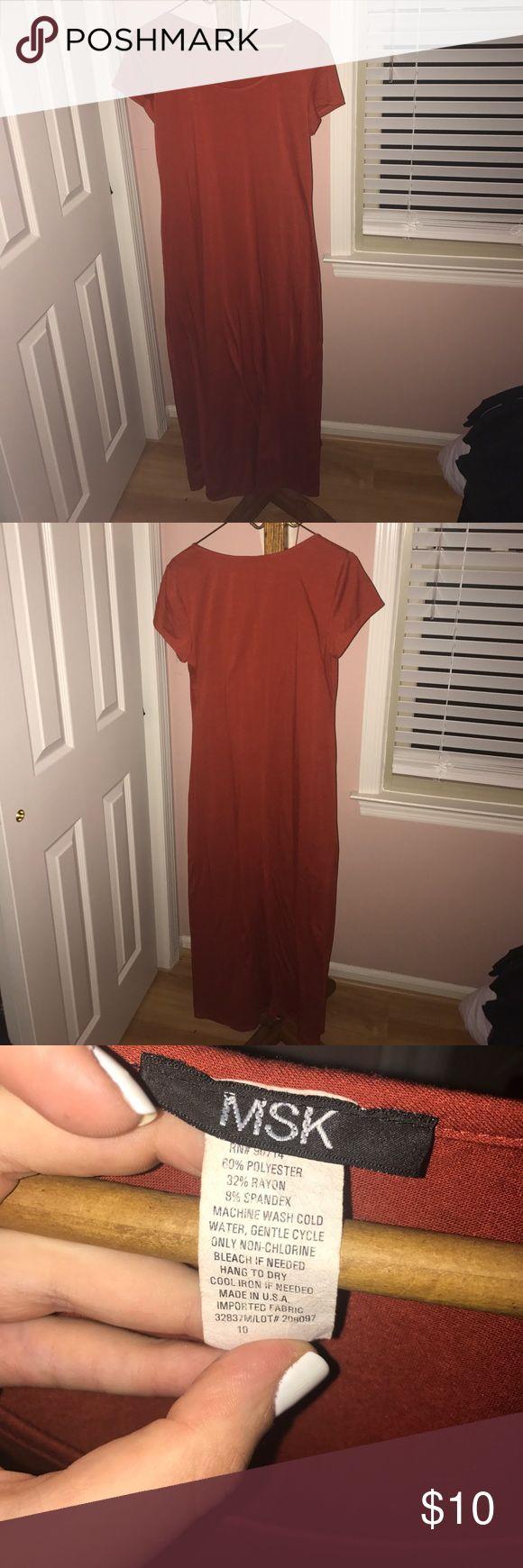 Brown t-shirt maxi dress Brown t-shirt maxi dress with scoop neck. Dresses Maxi