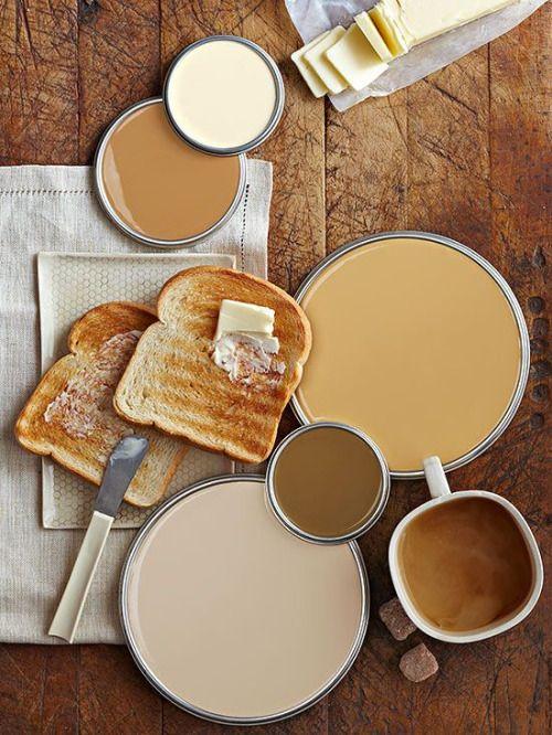 Entre ocre et brun voici une palette chaude et gourmande.