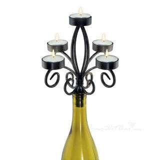 Wine bottle candelabra